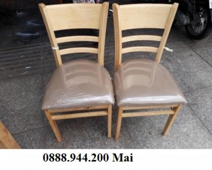 Thanh lý ghế gỗ cafe bọc nệm giá rẻ tphcm2