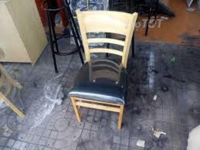 Thanh lý ghế gỗ cafe bọc nệm giá rẻ tphcm1