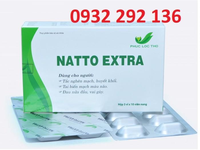 Natto Extra giúp tan huyết khối, phòng ngừa hình thành cục máu đông. Natto Extra sử dụng tốt cho người bị tai biến mạch não ,đau nửa đầu, mất ngủ, tê bì chân tay0