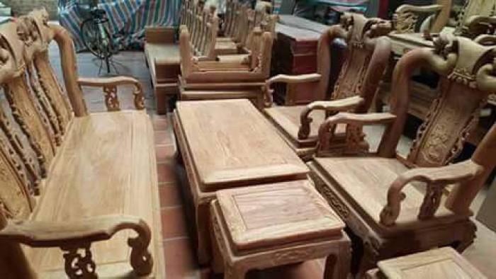Bộ bàn ghế quốc đào gỗ hương vân7