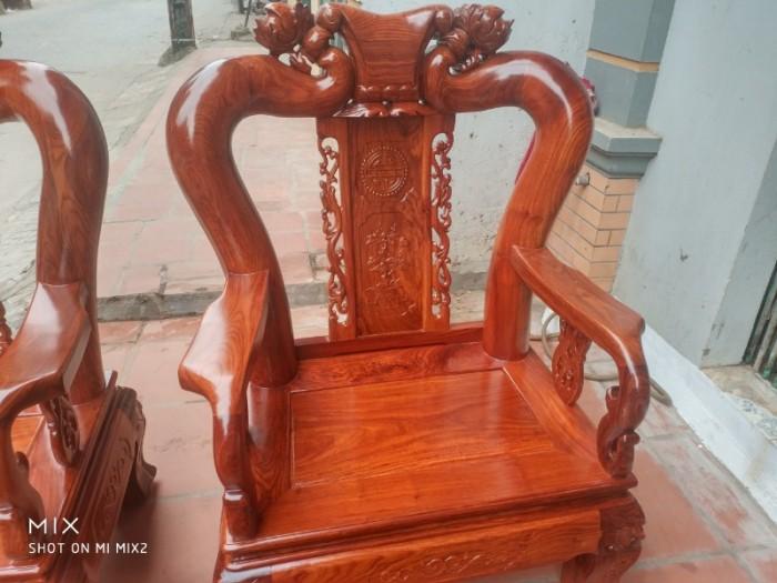 Bộ bàn ghế quốc đào gỗ hương vân0