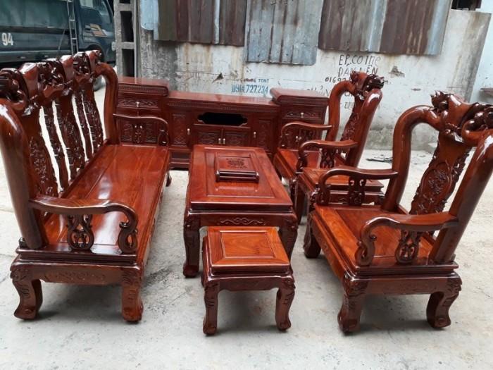 Bộ bàn ghế quốc đào gỗ hương vân9