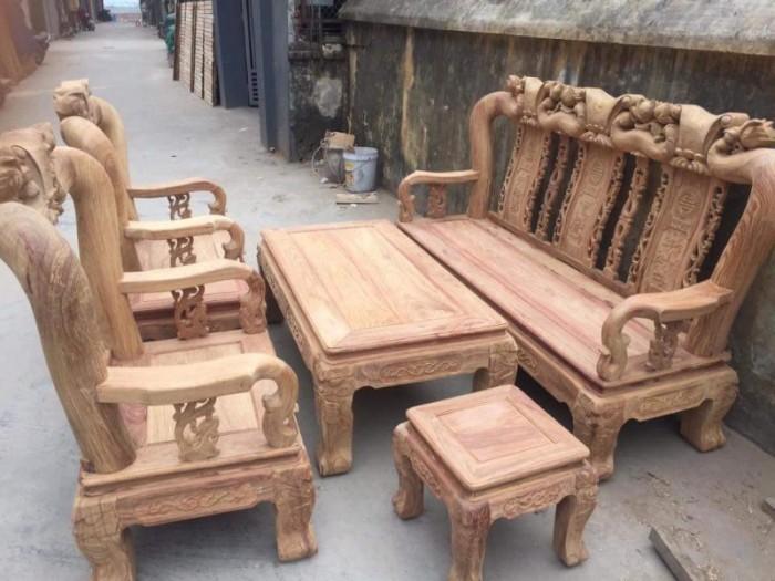 Bộ bàn ghế quốc đào gỗ hương vân2