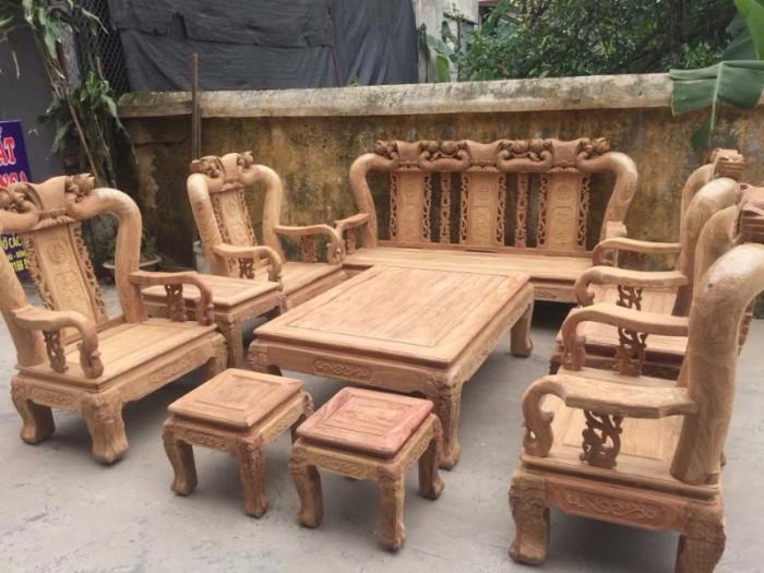 Bộ bàn ghế quốc đào gỗ hương vân8