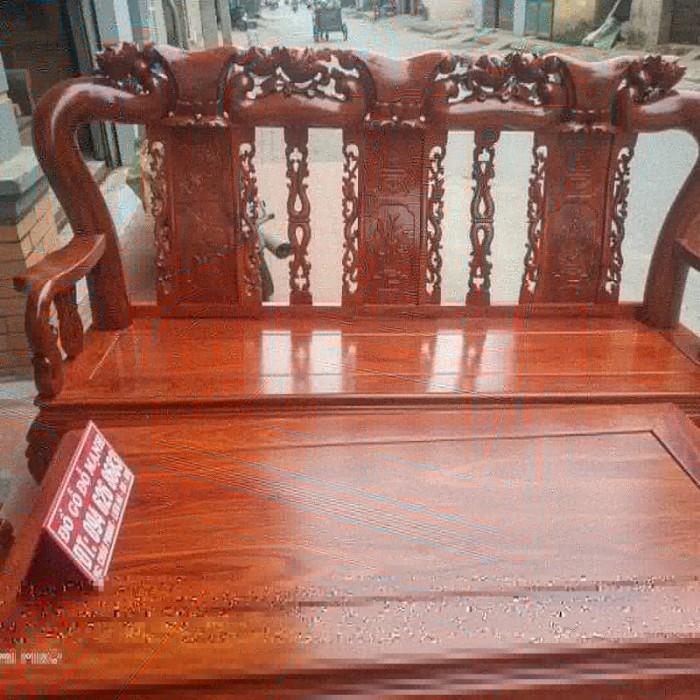Bộ bàn ghế quốc đào gỗ hương vân6