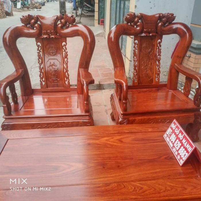Bộ bàn ghế quốc đào gỗ hương vân3