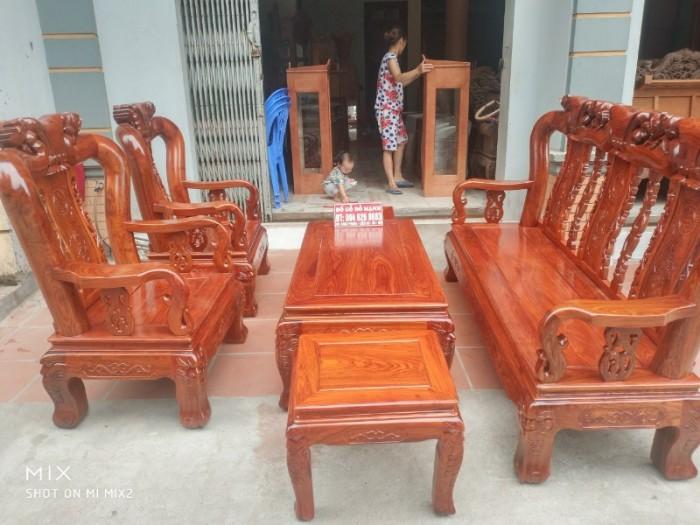 Bộ bàn ghế quốc đào gỗ hương vân1