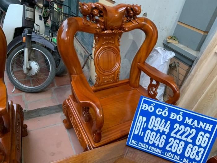 Bộ bàn ghế giả cổ trạm quốc đào gỗ gõ đỏ13