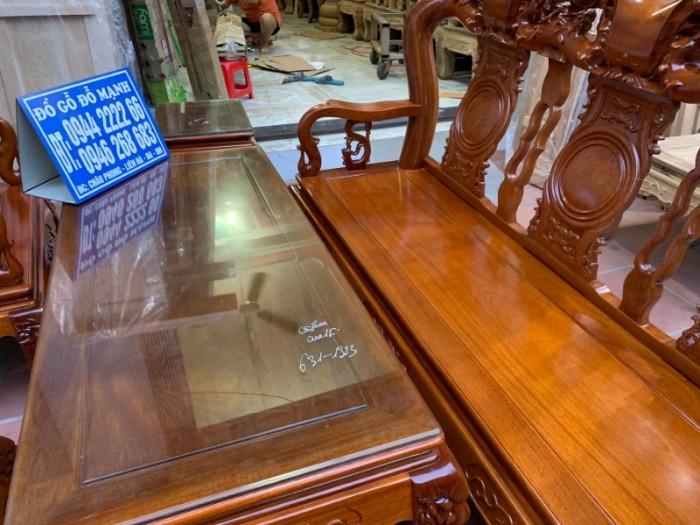 Bộ bàn ghế giả cổ trạm quốc đào gỗ gõ đỏ18