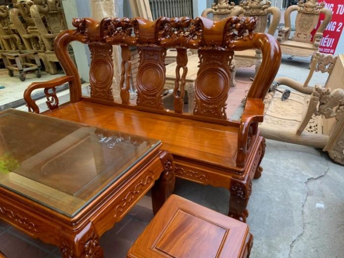 Bộ bàn ghế giả cổ trạm quốc đào gỗ gõ đỏ16
