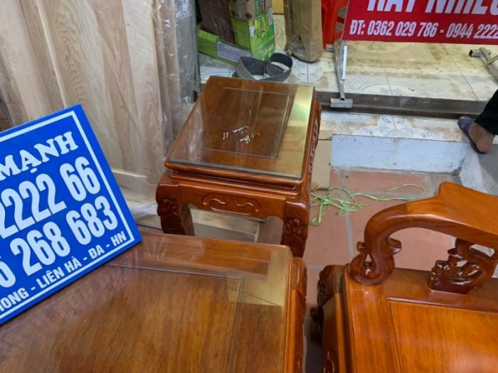 Bộ bàn ghế giả cổ trạm quốc đào gỗ gõ đỏ17