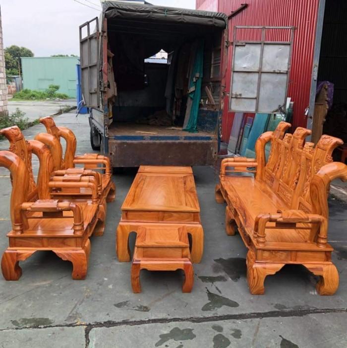 Bộ bàn ghế tần thủy hoàng gỗ gõ đỏ tay 120