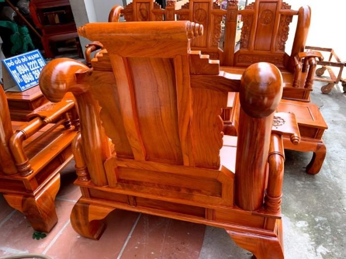Bộ bàn ghế tần thủy hoàng gỗ gõ đỏ tay 129