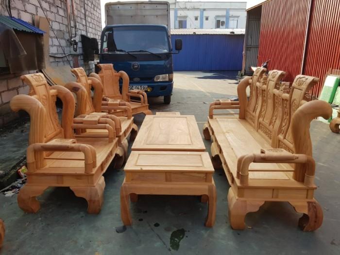 Bộ bàn ghế tần thủy hoàng gỗ gõ đỏ tay 128