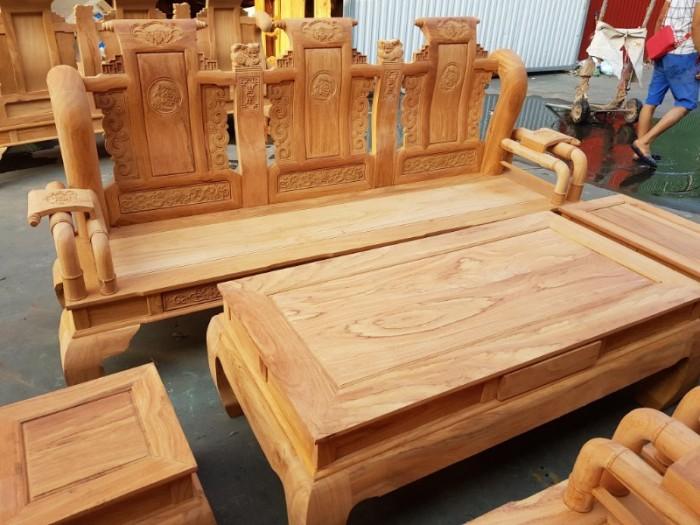 Bộ bàn ghế tần thủy hoàng gỗ gõ đỏ tay 1211