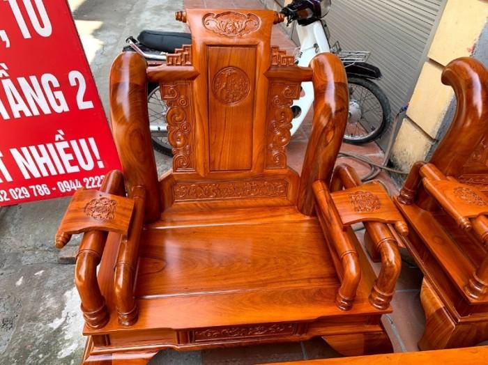 Bộ bàn ghế tần thủy hoàng gỗ gõ đỏ tay 123