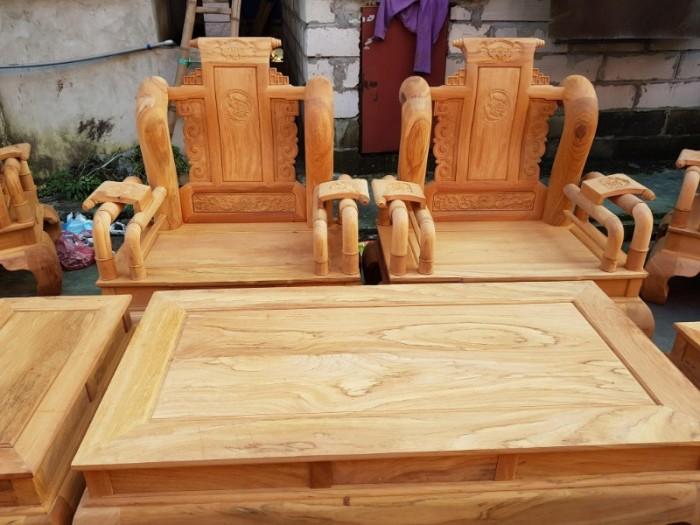 Bộ bàn ghế tần thủy hoàng gỗ gõ đỏ tay 1217