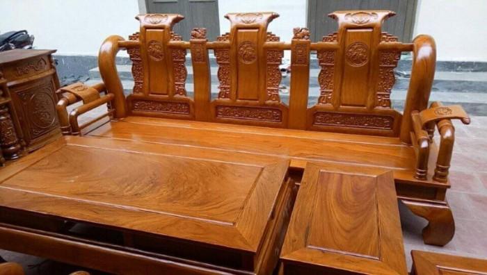 Bộ bàn ghế tần thủy hoàng gỗ gõ đỏ tay 126