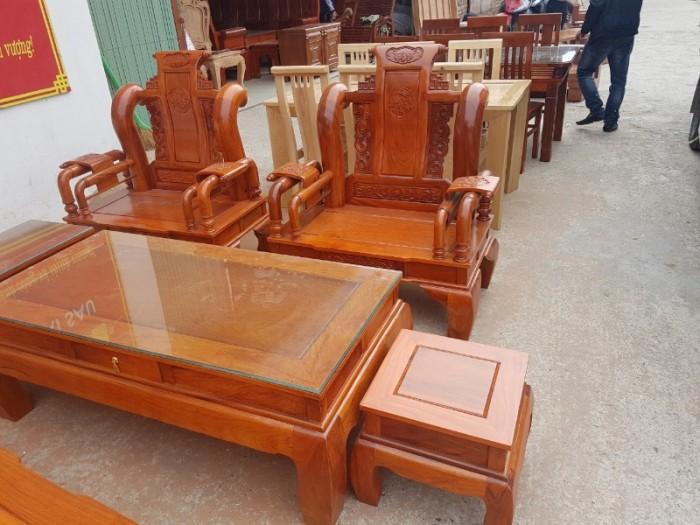 Bộ bàn ghế tần thủy hoàng gỗ gõ đỏ tay 1218