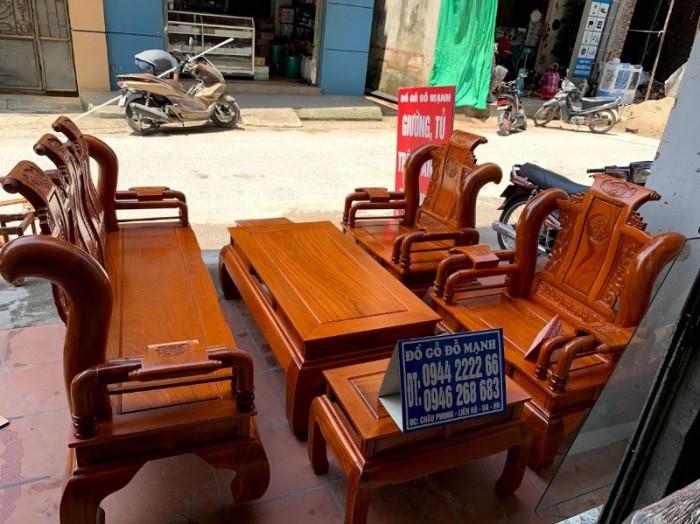 Bộ bàn ghế tần thủy hoàng gỗ gõ đỏ tay 1212