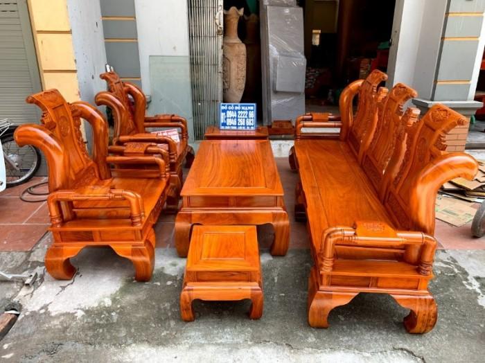 Bộ bàn ghế tần thủy hoàng gỗ gõ đỏ tay 1213