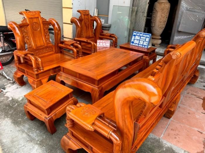 Bộ bàn ghế tần thủy hoàng gỗ gõ đỏ tay 127