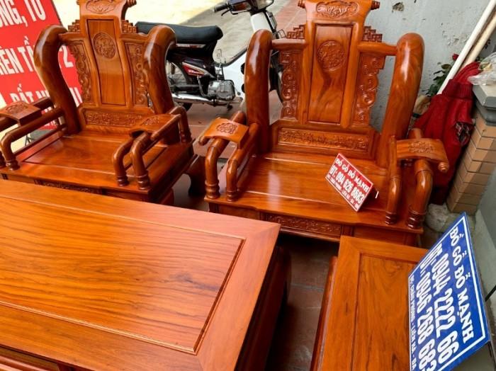 Bộ bàn ghế tần thủy hoàng gỗ gõ đỏ tay 1214