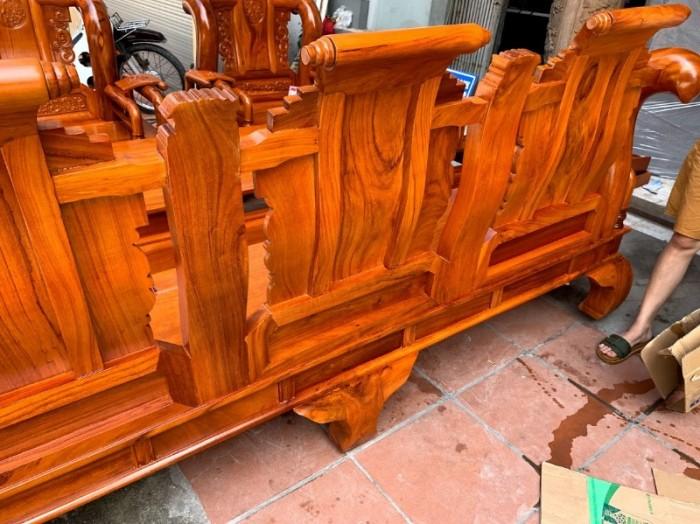 Bộ bàn ghế tần thủy hoàng gỗ gõ đỏ tay 1215