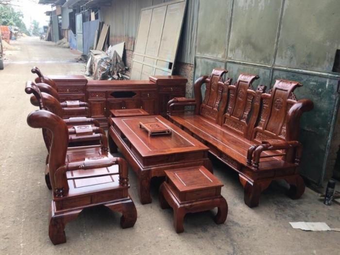 Bộ bàn ghế giả cổ tần thủy hoàng gỗ hương vân5