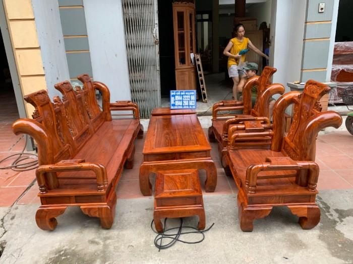 Bộ bàn ghế giả cổ tần thủy hoàng gỗ hương vân6