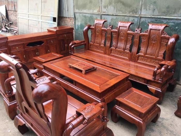 Bộ bàn ghế giả cổ tần thủy hoàng gỗ hương vân7