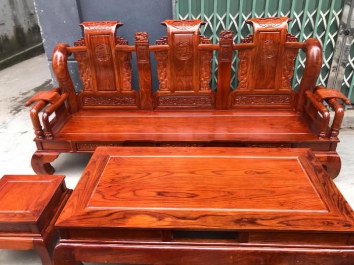 Bộ bàn ghế giả cổ tần thủy hoàng gỗ hương vân10