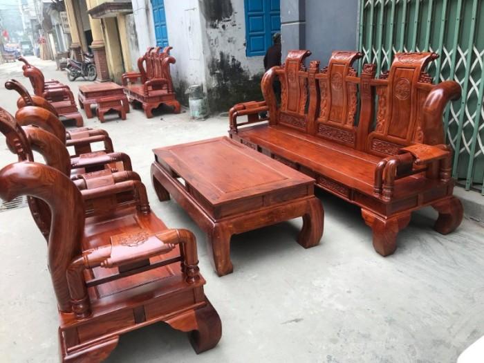 Bộ bàn ghế giả cổ tần thủy hoàng gỗ hương vân8