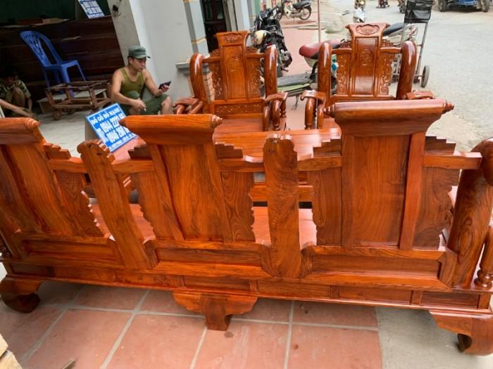 Bộ bàn ghế giả cổ tần thủy hoàng gỗ hương vân12