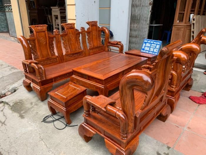 Bộ bàn ghế giả cổ tần thủy hoàng gỗ hương vân17