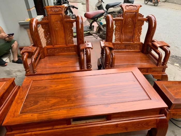 Bộ bàn ghế giả cổ tần thủy hoàng gỗ hương vân13
