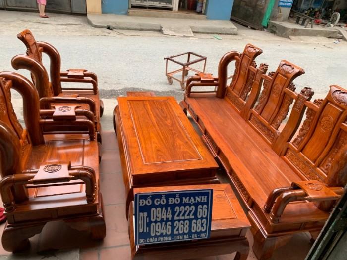 Bộ bàn ghế giả cổ tần thủy hoàng gỗ hương vân16