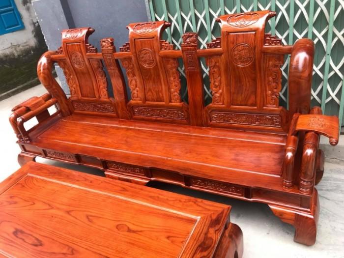 Bộ bàn ghế giả cổ tần thủy hoàng gỗ hương vân15