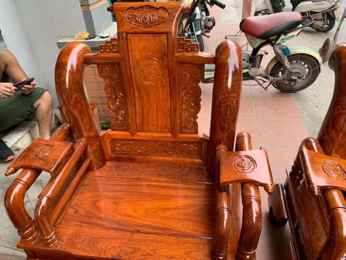 Bộ bàn ghế giả cổ tần thủy hoàng gỗ hương vân18