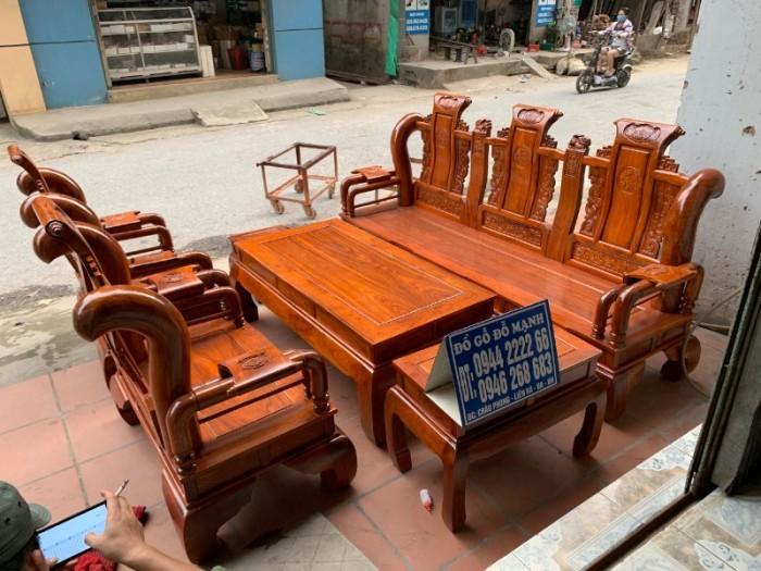 Bộ bàn ghế giả cổ tần thủy hoàng gỗ hương vân19