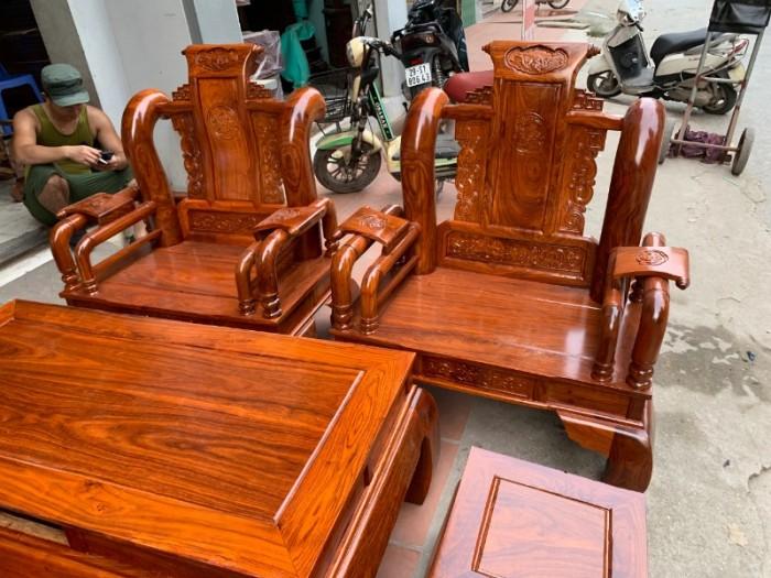 Bộ bàn ghế giả cổ tần thủy hoàng gỗ hương vân9