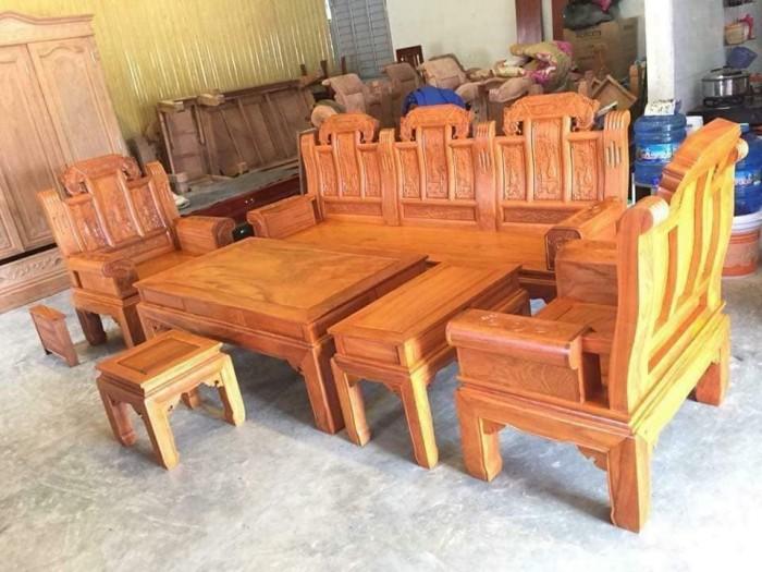 Bộ bàn ghế âu á hộp như ý voi gỗ gõ đỏ,kate13