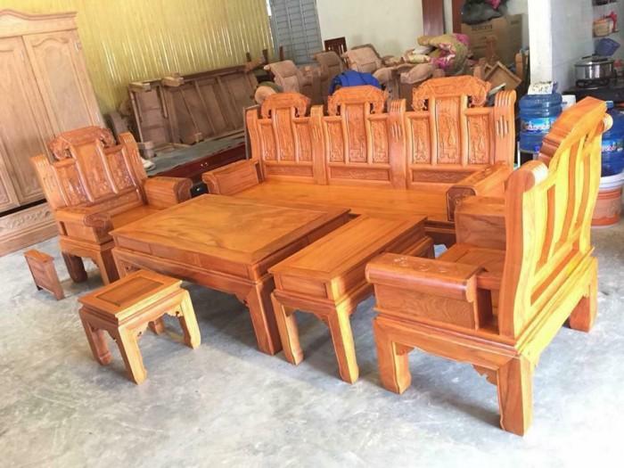 Bộ bàn ghế âu á hộp như ý voi gỗ gõ đỏ,kate14