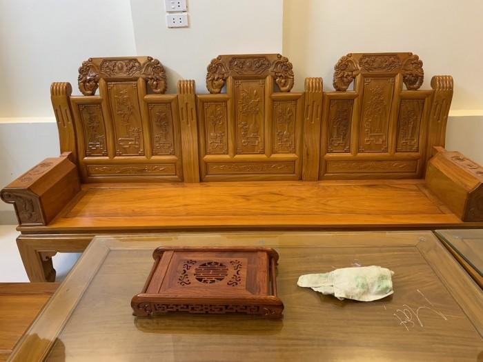 Bộ bàn ghế âu á hộp như ý voi gỗ gõ đỏ,kate11