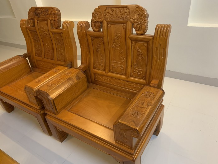 Bộ bàn ghế âu á hộp như ý voi gỗ gõ đỏ,kate10