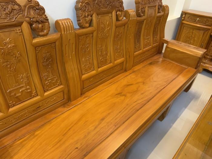 Bộ bàn ghế âu á hộp như ý voi gỗ gõ đỏ,kate9
