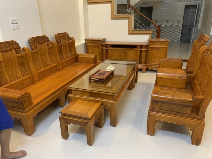 Bộ bàn ghế âu á hộp như ý voi gỗ gõ đỏ,kate5