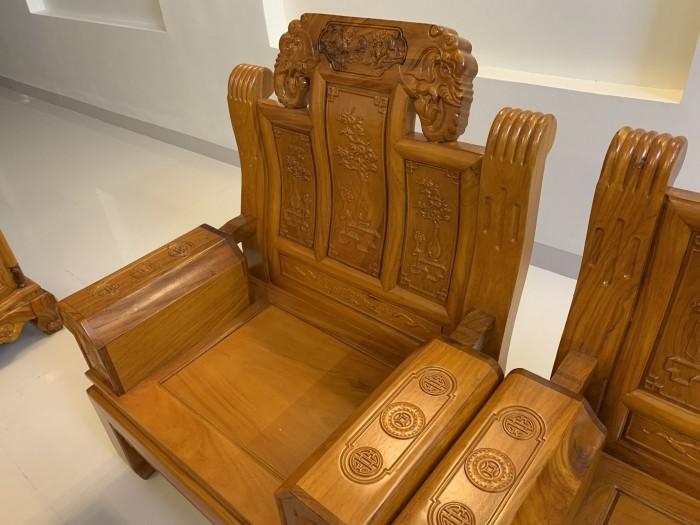Bộ bàn ghế âu á hộp như ý voi gỗ gõ đỏ,kate8