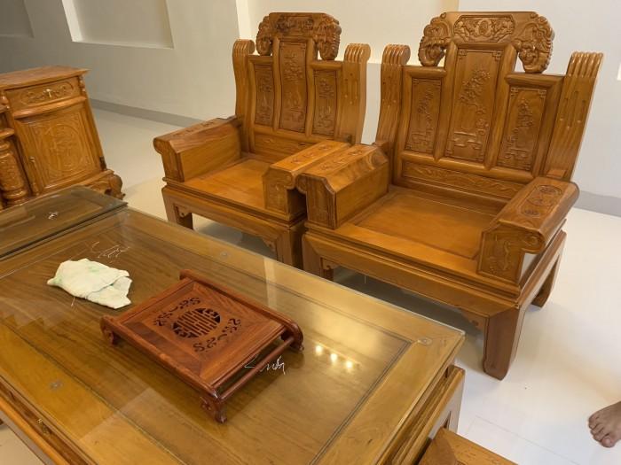 Bộ bàn ghế âu á hộp như ý voi gỗ gõ đỏ,kate6