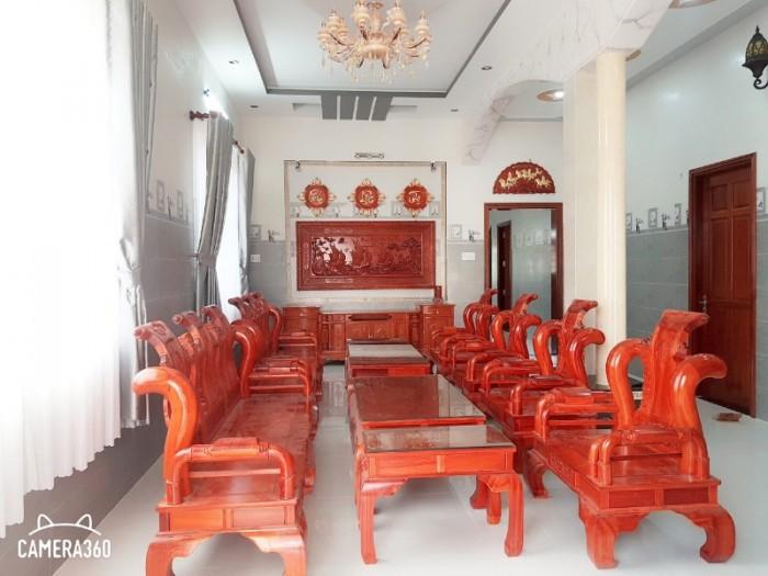 Bộ bàn ghế tần thủy hoàng gỗ hương nam phi6